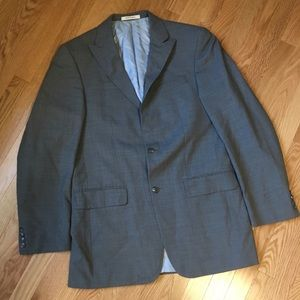 Kenneth Cole Grey Wool Suit Coat